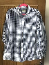 Orvis Shirt Mens Size 48 Chest Long Sleeve Check Cotton Blue