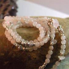 Pink Aventurine & Rose Quartz Gemstone Eyeglass Holder EG1057 The Emerald Egret