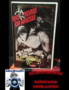 She-Devils on Wheels (1968) Vhs tape - Rare Horror Herschell Gordon Lewis