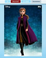 Topps Disney Collect Digital Frozen 2 Characters Cards Uncommon set NO Award