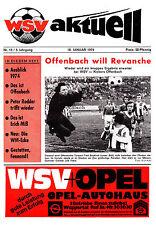 Programm   1973-1974   Wuppertaler SV v Kickers Offenbach   Bundesliga