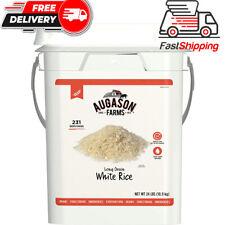 Augason Farms Long Grain White Rice Emergency Food Storage 24 Pound Pail...