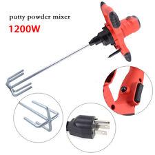 Top! 110V 60Hz 1200W Electric Concrete Cement Mortar Mixer Mortar Mixer Shaft