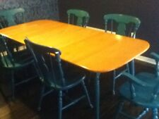 Solid Pine Dining Table and Charis