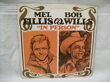 """Mel Tillis & Bob Wills """"In Person""""  Vinyl Record LP 1973 MCA Records MCA-550"""