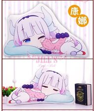 Cartoon lolita anime Miss Kobayashi's Dragon Maid napping Kanna stuffed pillow