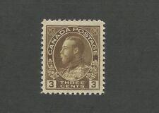 King George V 1918 Canada 3c Brown Postage Stamp #108 Value $60