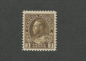 1918 Canada King George V Postage Stamp #108 Mint Hinged F/VF Original Gum