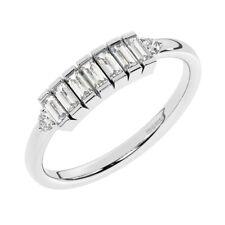 0.35ct Bar Set Baguette Cut Diamanten Halbe Ewigkeit Ehering in 950 Platin