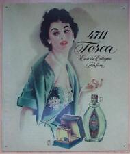 Altes Blechschild Tosca Parfüm Reklame Werbung gebraucht