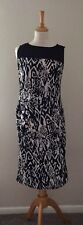 ladies black and white dress size 12