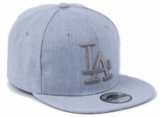 Cappy Herren Kappe Snapback gerader Schirm Basecap L.A. Los Angeles Grau Grau