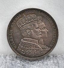 German States Prussia 1861 A Thaler Coronation Silver Coin AU
