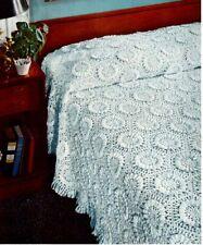 Vintage Crochet Pattern to Make Crochet Bedspread  1950's  Sunflower Bedspread