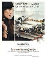 PUBLICITE ADVERTISING 2012  PANDORA bracelets                             220812