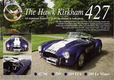 Hawk 427SC 289 FIA Le Mans AC Cobra Replica UK Market Leaflet Sales Brochure