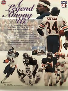 """Walter Payton """"A Legend Among Us"""" Unsigned 16"""" x 20"""" Poster"""