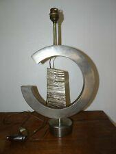 Superbe Lampe en Métal  Acier Inox, forme Abstraite design des Années 70 Vintage