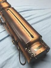 Win Geniune Tooled Leather 3 Butt 5 Shaft Cue Case 3x5 W/ Free Shipping WoW