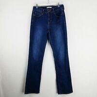 Levis 505 Womens Jeans Size 8 M Straight Leg Stretch Denim Dark Wash 29x32