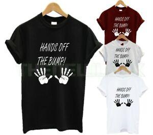 HANDS OFF THE BUMP T SHIRT PREGNANT PREGGERS MUM GIFT LOVE FUNNY MATERNITY NEW