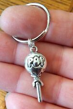 """Cute LOLLIPOP Key Chain with silver """"POP"""" charm US Seller FREE SHIPPING"""