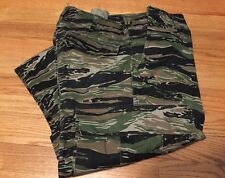 Vintage US Army Trouser Cargo Tiger Strip Style Camouflage Uniform Pants.