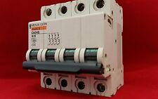 Merlin Gerin 25885 C60HB425 25A 25AMP B25 tipo B 4 polos 4P Reja de desminado clip faltante DIN