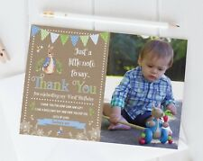 10 Personalised Baby Thank You Cards / Announcement Inc Envelopes Photo