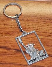 Statue of Liberty Flip Side Front & Back New York Collectible Souvenir Key-Chain