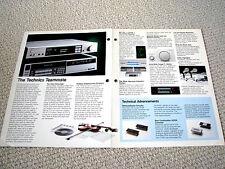 Technics SV-110 digital audio processor brochure