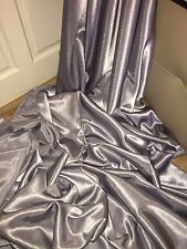"1 MTR SILVER GREY CREPE BACK LINING SATIN FABRIC...58"" WIDE (NEW IN STOCK)"