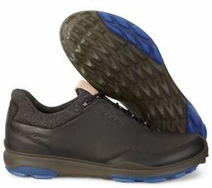ECCO Biom Hybrid 3 Spikeless Men's Golf Shoes Size 46 Black/Blue NIB #72353