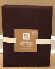 NEW Pottery Barn Teen Classic Organic XL TWIN Sheet Set BROWN