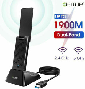 EDUP AC 1900Mbps USB 3.0 Wireless Wifi Network Card Adapter with 4 Antennas 6dBi
