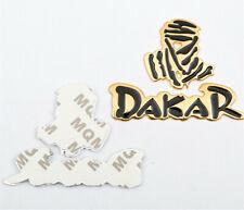 Dakar Racing Motorcycle Bike Car Emblem Badge Race Rally Decals Stickers Gold