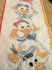 Vintage Disney Donald duck and nephews cloth cross stitched  growth chart