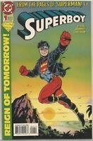 Superboy #1 : Vintage DC Comic book : February 1994