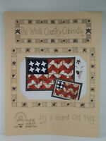 The Whole Country Cabootle IT'S A GRAND OLD FLAG Wall Hanging Pattern VGC