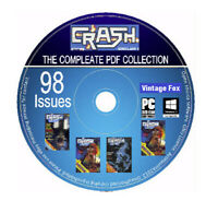 Crash Complete Magazine Collection All 98 Issues Sinclair ZX Spectrum Games DVD