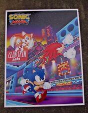 SXSW OFFICIAL Sega Exclusive Sonic Mania Hedgehog Poster 22x28 RARE 2017 PAX E3