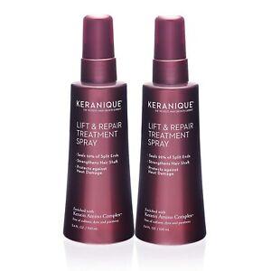 2 PC Keranique Lift and Repair Treatment Spray for Thicker Fuller Hair 3 4 OZ ea