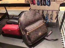 NWT Coach F32200 Medium Charlie Backpack in Signature Canvas Brown Black
