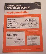 Revue technique RTA 407 Peugeot 305 diesel GFD GLD SRD berline break