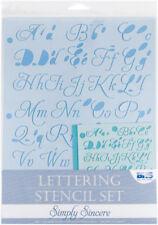 Blue Scrapbooking Stencils