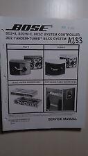 Bose 802 2 w c II 302 stereo speaker system service manual original repair book