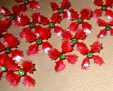 12 RARE Holly Poinsettia Light Bulbs for Ceramic Christmas Tree Red Green