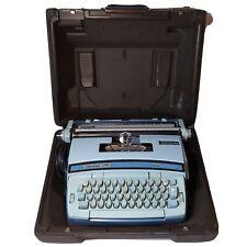 Baby Blue Smith Corona Coronet Super 12 Typewriter With Original Case No Power
