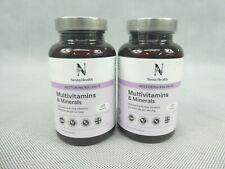 2 x Nesta Health Multivitamins Minerals Food Supplements 120 Tablets Per Jar New
