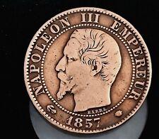 5 CENTIMES 1857 MA Napoléon III Marseille - F.116/42 - TRÈS RARE - TTB++/SUP